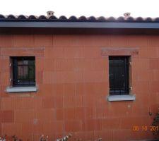 Fenêtres pièces humides avec grilles de défense