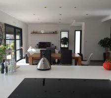 petite vue de la cuisine du sejour salon