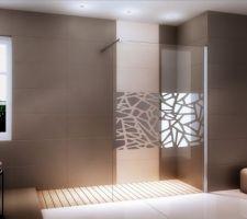 Paroi de douche pour la SDB de l'étage