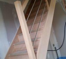 realisation escalier en hetre