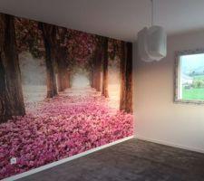 Chambre fleurs terminée!!