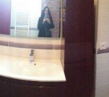 Salle de bain des filles. Meubles Lapeyre