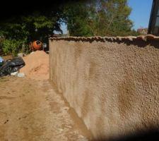 Crépi du muret,pas sec