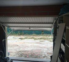 Garage à vélo/atelier, isolé mur et plafond sauf porte