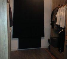 Double rideaux occultant du dressing