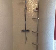 Côté douche à l'italienne