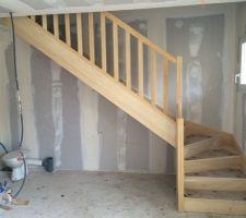 22/10/15 : Pose de l'escalier