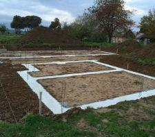 Fondations sèches après 2 semaines