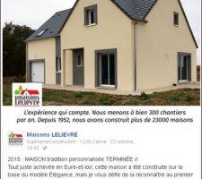Page Facebook du constructeur