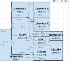 plan de la maison avant acquisitionle nord est en haut pas de fenetre au nord donc
