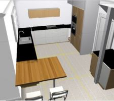 implantation cuisine 2 armoire avec enchassement