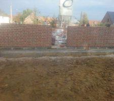 Nos murs : briques lamour et joint blanc