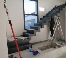 Montage de l'escalier !!!