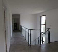escalier termine garde corps pose mezzanine et degagement etage