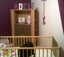 Décoration entamée dans la chambre de notre fille Adèle