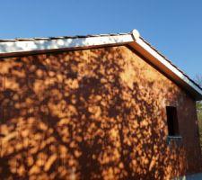 Vue Ouest avec débords de toit