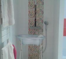 douche dans la sdb enfants