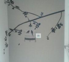 stickers oiseaux dans le couloir
