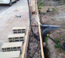 fondations du muret de facade