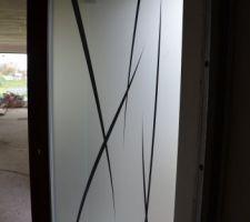 Porte d'entrée bois/alu