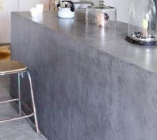 ilot central beton