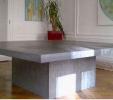 table salle a manger beton