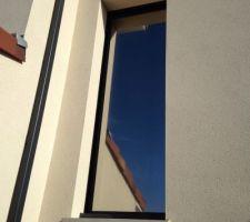 Vue de l'extèrieur avec le film anti-chaleur
