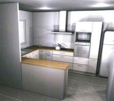 voici un des plans de notre projet cuisine