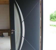 Porte mixte bois/alu Samic