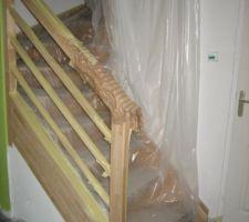 Sous couche cloisons escalier