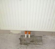 Radiateur sous escalier