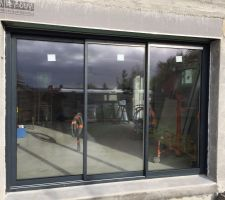 baie vitree 3 metres 3 coulissants