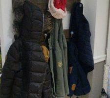 porte manteau fait maison en place