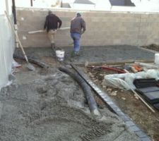 mise en place beton desactive