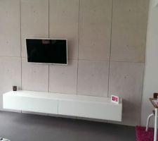 plaque resine imitation beton banche
