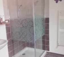 cabine de douche etage enfin terminee