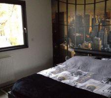chambre de notre fils ambiance new york
