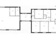 voici les plans de notre future maison precisons qu elle sera en toit plat