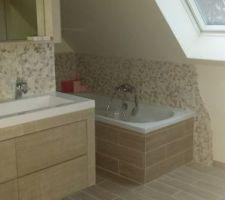 double vasque et baignoire