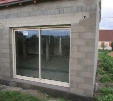 La baie vitrée, façade arrière