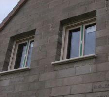 Les deux fenêtres en pignons des chambres des enfants