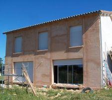 2ème couche façade sud maison