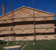 3ème couche façade est garage