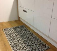 tapis au niveau de l evier