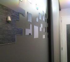 customisation des portes de placard de l entree
