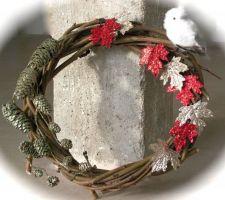 Le tuto du jour : la couronne de Noël