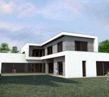 autoconstruction maison passive a toit plat