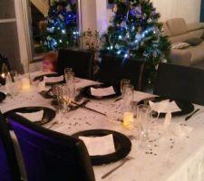 Notre petite table du réveillon de Noël
