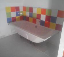 Carrelage salle de bain de l'étage
