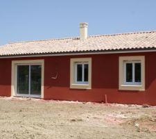Photos parexlanko r90 brique rouge - Enduit sur brique rouge ...